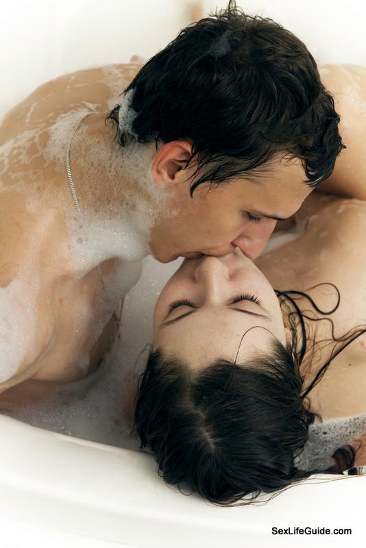 couple enjoying Beer Bath