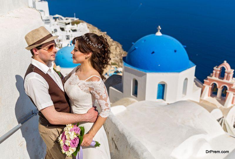 couple in santorini-island